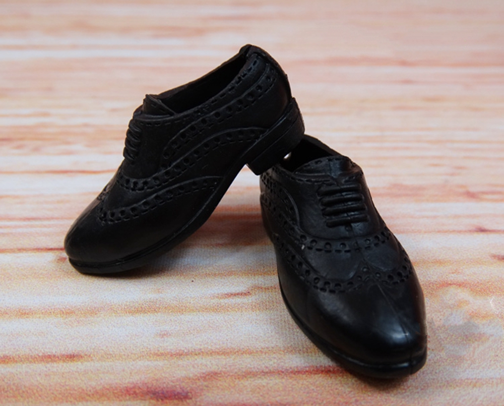 Black Fashion Doll Shoes Formal Shoes For Ken Male Business Shoes For Ken Doll