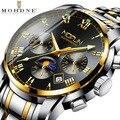 Модне новые деловые мужские наручные часы многофункциональные с автоматическим подзаводом Механические Мужские часы Relogio Masculino