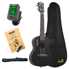 BWS EST & 1988 23 Inch Concert Ukulele Black Hawaiian Mini Guitar Rosewood Fretboard 4 Strings Mahogany Ukulele Music 23 inch concert ukulele 4 strings hawaiian guitar rosewood fretboard mahogany body ukelele wholesale oem 2 colors for available