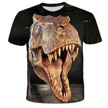 2021 Cartoon T-shirts Kids Dinosaur Print 3D T Shirt For Boys Children Summer Short Sleeve T-shirt Tops Clothing Boys & Girls