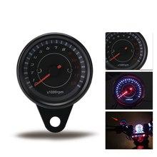 12 v universal motocicleta tacômetro tacômetro tacômetro velocímetro com luz de fundo led night light moto instrumento acessórios