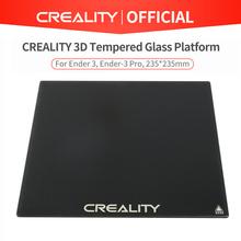 CREALITY 3D platforma ze szkła hartowanego podgrzewana powierzchnia do zabudowy łóżka do drukarki Ender-3 Ender-3 Pro Ender-5 CR-20 CR-20 Pro tanie tanio Płytka szklana CREALITY 3D Tempered Glass Plate Ultrabase platform Heatbed 3d printer platform Build Plate Size 235*235mm