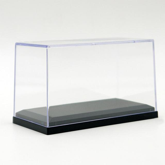 Kuulee Acrylic Display Case for 1:64 Scale Car Dust-Proof Black Base Display Box for Diecast Model Toy Car