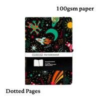 Espaço bala diário ponto grade capa dura a5 notebook elástico banda viagem pontilhada bujo planejador de viagem diário Cadernos     -