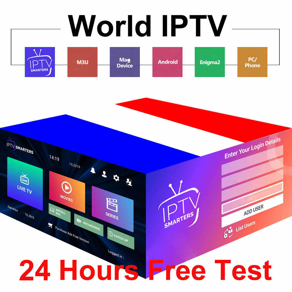 Abonnement Premium Stable 1 an IPTV France avec films vsd 4K HEVC pour Xtream Code m3u Smart IPTV Smarters Pro Android TV Box