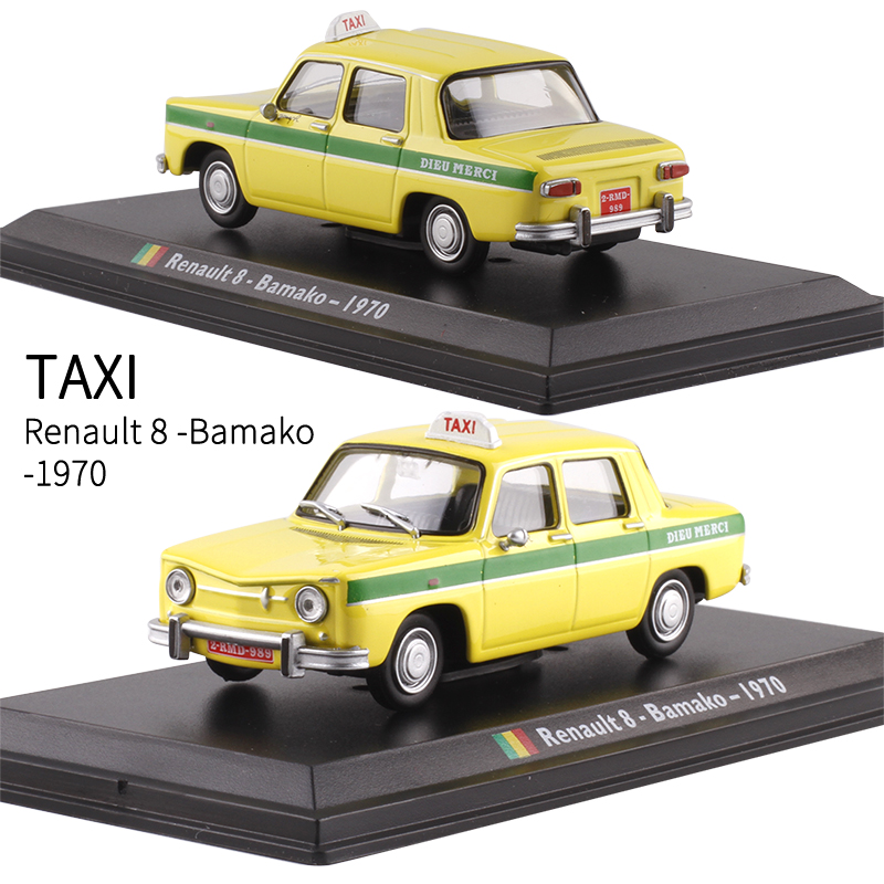 Leo 1:43 Bamako 1970 Taxi Alloy Model Car Furnishings Collection Model Toy