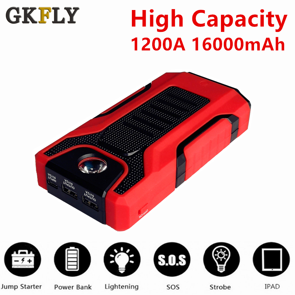 1200A Multifunction Car Jump Starter Portable Power Emergency Battery Booster Car Charger Battery Starting Cables Deveice