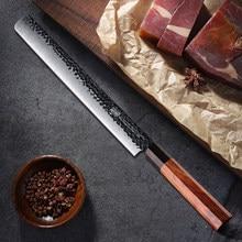 Findking 12 inch Salmon Slicer Knife 3 layer 9CR18MOV Clad Steel octagon Handle Brisket Ham Knives for kitchen slicing filleting