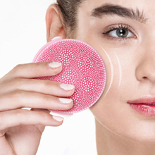 Electric Silicone Cleansing Instrument Portable Usb Charging Wash Brush Ultrasonic Vibration Massage Facial Pore Cleaner ultrasonic face wash electric wash artifact cleansing instrument wash pores cleaner multi function wash brush