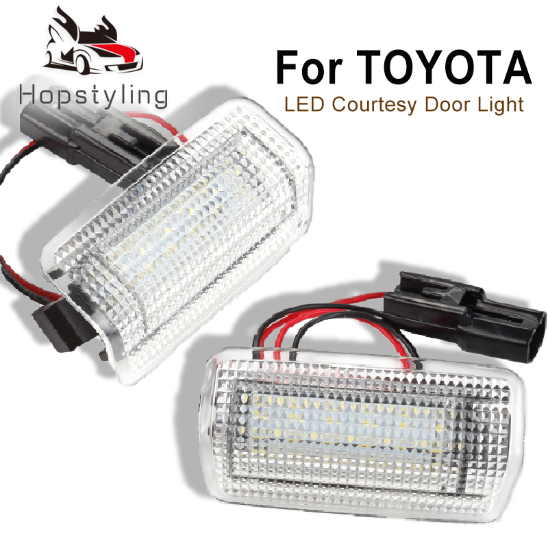 LED Courtesy Door Light Bulb For <font><b>Toyota</b></font> Wish Camry Corolla Crown Land Cruiser Highlander Venza <font><b>4Runner</b></font> Estima Prius Reiz Sienna image