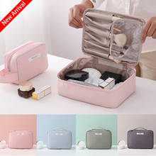 New Fashion Womens Cosmetics Storage Bag Makeup Tool Portable Purse Handbags Jewelry Bag(4 colors)