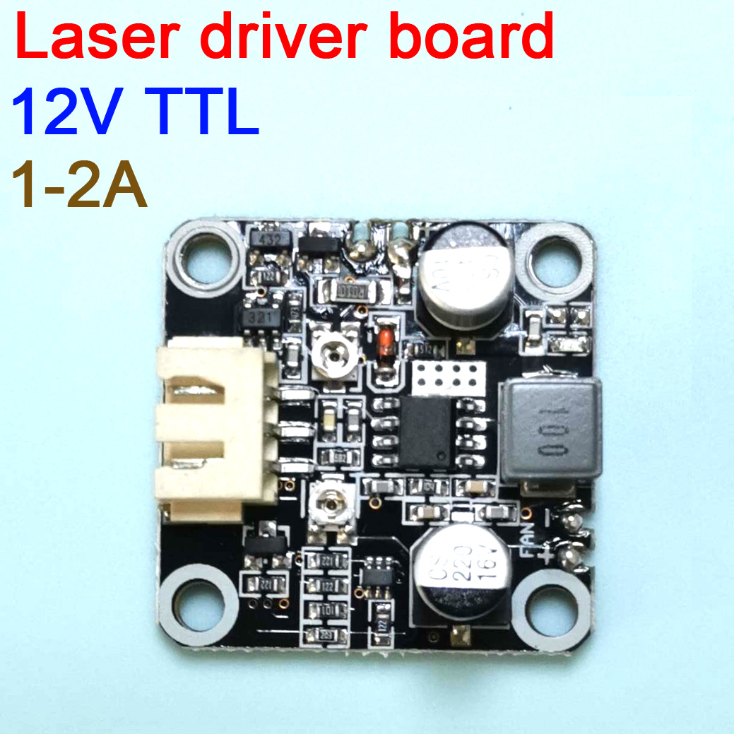dykb Laser Diode LD driver board with TTL modulation current 1A   2A 12V voltage current adjustable 405nm 445nm 450nm|Battery Accessories & Charger Accessories| |  - title=