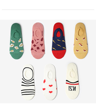 Boat Socks Spring and Summer Thin Personality Shallow Mouth Men and Women Models Korean Version of The Cartoon Invisible Socks sell well new spring and summer children s cartoon short socks children spring and summer cartoon smiley invisible boat socks