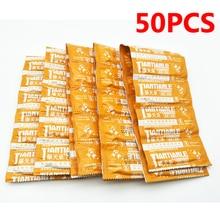 50 sztuk ultra cienkie prezerwatywy dla mężczyzn naturalne lateksowa prezerwatywa z dużą ilością Lube antykoncepcji zabawki G Spot nakładka na penisa dorosłych Sex produkty