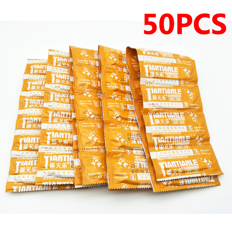 50PCS Ultra Thin Condoms For Men Natural Latex Condom With Lots Lube Contraception Toys G Spot Penis Sleeve Adult Sex Products