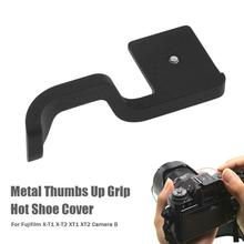 Hot Shoe Thumb Up Grip Black for Fuji Fujifilm XT1 X-T1 XT2 X-T2 Accessories Provide Additional Stability and Placement meike mk xt1 battery grip for fujifilm x t1 as vg xt1