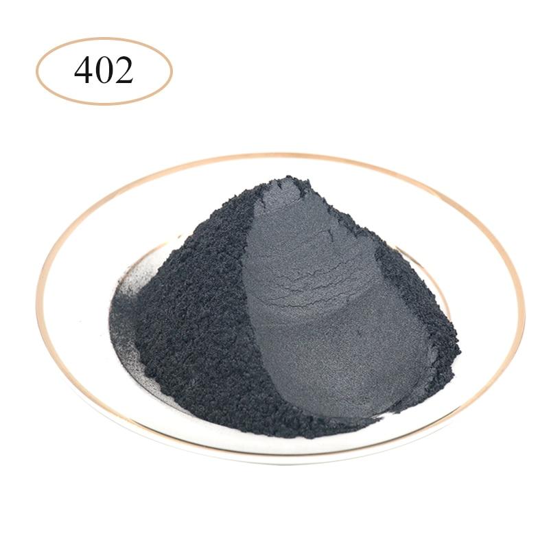 Silver Black Pearl Powder Pigments Mineral Mica Powder Dye For Car Soap Ceramics Automotive Art Crafts Mica Pearl Powder 10g/50g