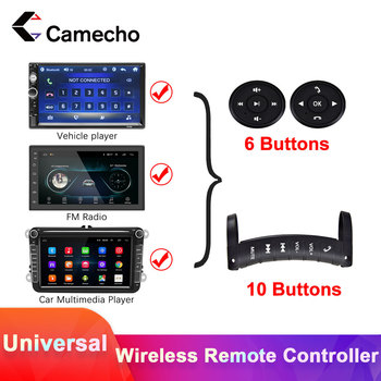 Camecho Car Steering Wheel Remote Control For 2DIN Car Multimedia MP5 GPS Player Button Car Radio Steering Wheel Remote Control image