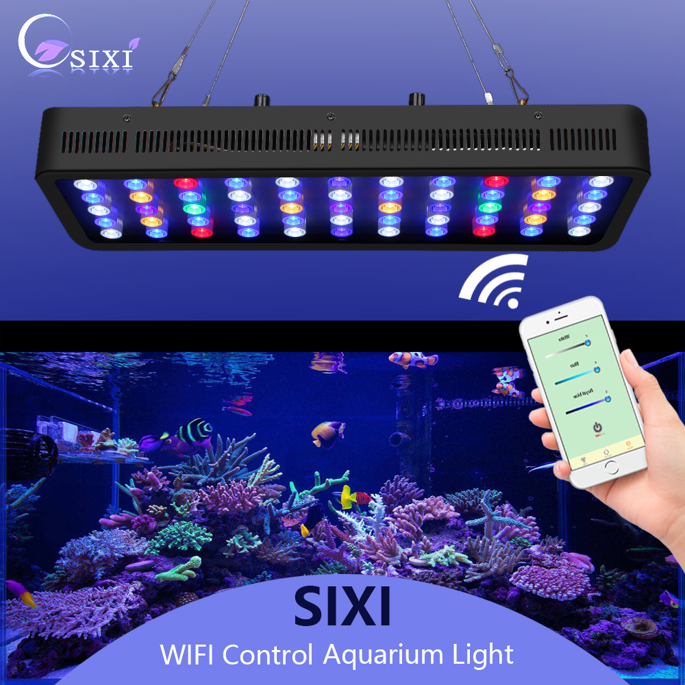 LEDs Aquarium lighting 165W Fish bowl lighting Aquatic Plant Light WiFi Controlled Dimming Coral light For Fish Tanks