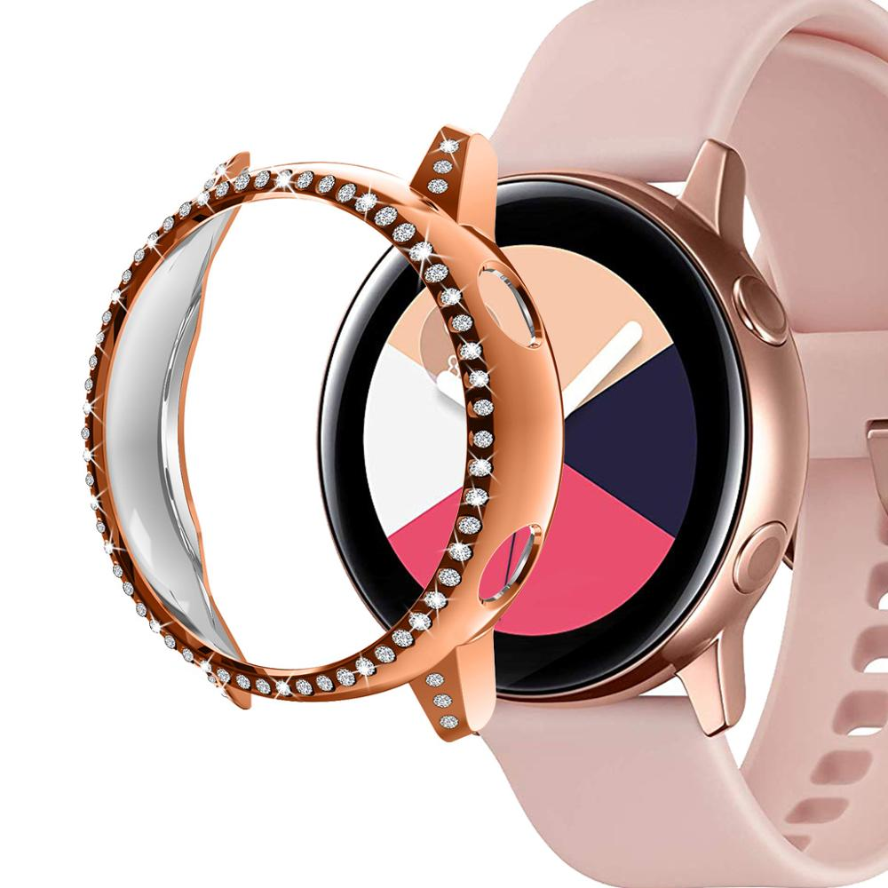 12Color Case For Samsung Galaxy Watch Active 1 Case Replacement Protective Cover TPU Watch Case Rose Gold Smart Watch Protector