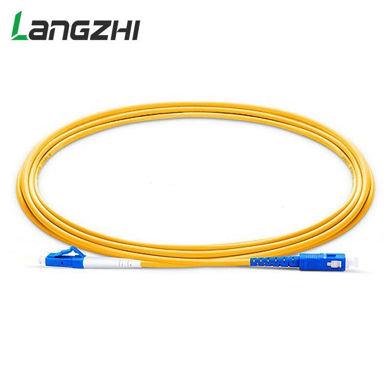 10 Uds LC UPC SC UPC G657a de fibra de PVC parche cable modo símplex 2,0 Mm 3,0mm Router de fibra de empalmador de fusión de parche de fibra cable 500M al aire libre LC UPC dúplex gota FTTH Cable LC monomodo dúplex G657A Cable de parche de fibra óptica FTTH Cable de fibra óptica