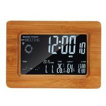 DC 5 220v 木製多機能無線 Lan 液晶天気温度湿度時計 100 240 110V 米国のプラグイン天気時計
