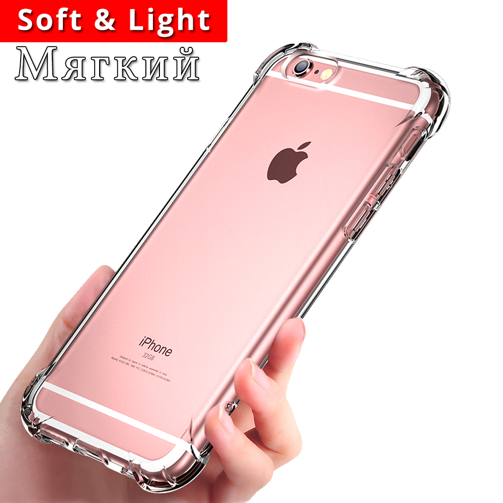 Luxury Shockproof Phone Bag Case For iPhone X XS XR XS Max 8 7 Plus 6 5 5S Case Transparent Protection Back Cover For Iphone in Fitted Cases from Cellphones Telecommunications