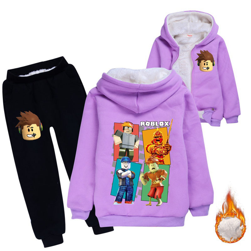 Image 4 - Children thickened Hoodies fleece bear suit cotton thicker coat  childrens clothing sets winter models for boys girls