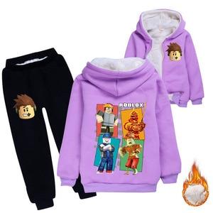 Image 4 - เด็กหนาHoodiesขนแกะหมีฝ้ายหนาเสื้อเสื้อผ้าเด็กชุดรุ่นฤดูหนาวสำหรับชายหญิง