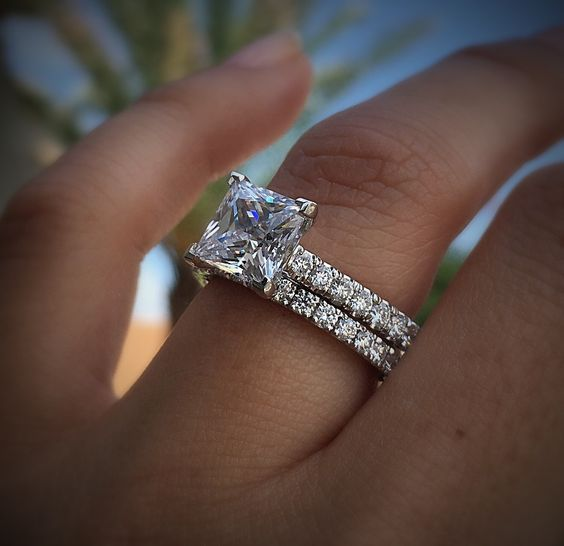 925 Sterling Silver Jewelry Natural 2 Carats Zircon Ring for Women Anillos Mujer Engagement Ring Bridal Sets Silver 925 Jewelry