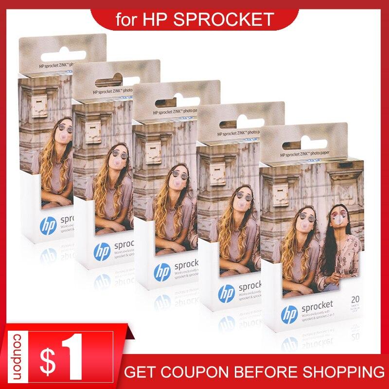 Topcolor HP papel fotográfico ZINK para HP piñón de la impresora de la foto Bluetooth Impresión de bolsillo Mini pegajoso papel fotográfico de 5*7,6 cm