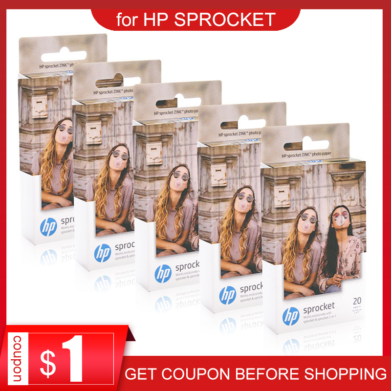 Topcolor Hp Kertas Foto ZINK untuk HP Sprocket Photo Printer Bluetooth Printing Saku Mini Lengket Kertas Foto 5*7.6 CM