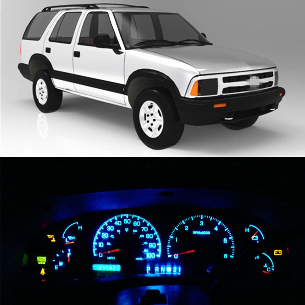 WLJH Super Bright Instrument Panel Cluster Gauge Speedometer Cluster Full LED Light Kits 12V For 1986-2005 Chevrolet S10 Blazer