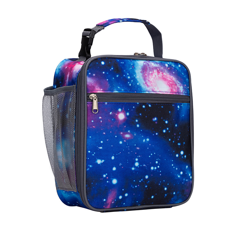 Heopono Kids Children Lunch Cool Bag BPA Free Cute Printed Fashion Boys Girls Detachable Handle Portable Insulated Lunch Box Bag