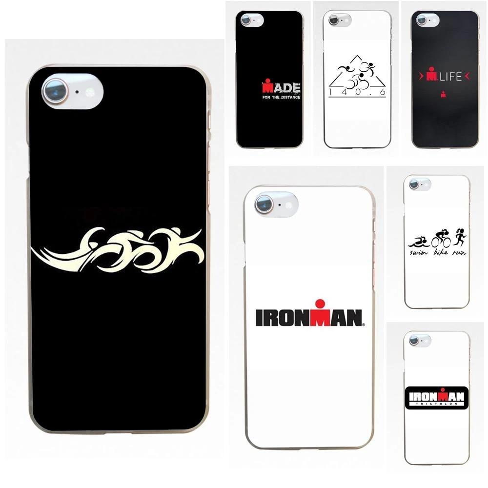 Ironman Triathlon Logo Soft Phone Case Coque For Apple iPhone 4 4S 5 5C 5S SE SE2 6 6S 7 8 11 Plus Pro X XS Max XR