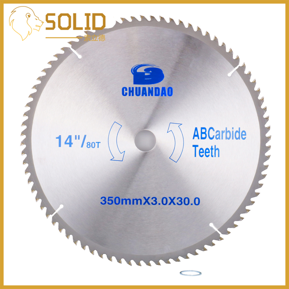 Carbide Circular Saw Blade 350X3.0X30mm For Wood Soft Metal L Al-alloy Cutting 40/60/80/100/120T