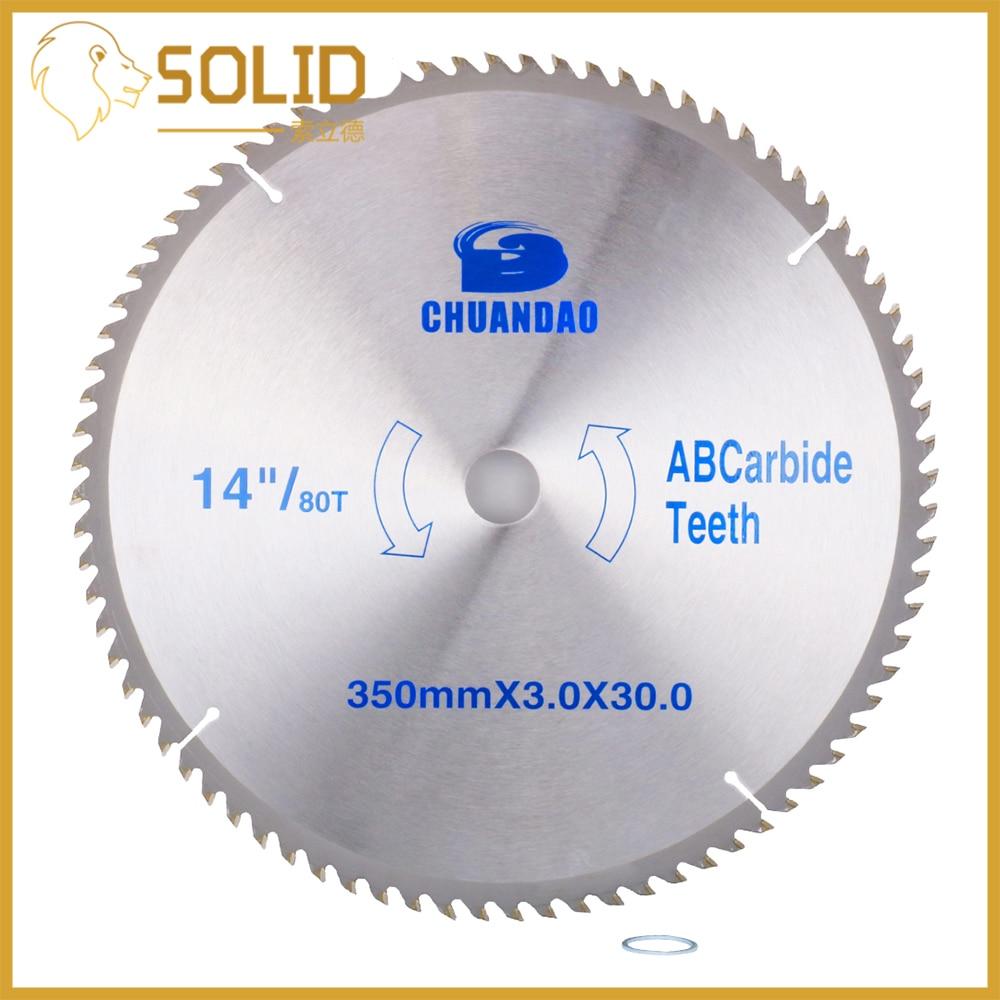 Carbide Circular Saw Blade 350X3.0X30mm For Wood Soft Metal L Al-alloy Cutting 40/60/80/100/120T