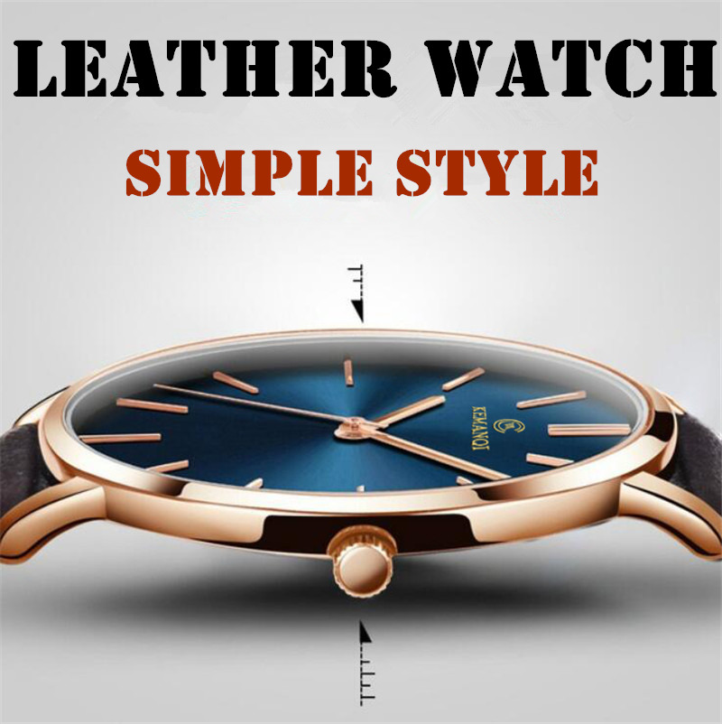Simple Watch 8mm Men's Watch Fashion New Casual Business Leather Time Quartz Roman Male Clock Relogio Masculino Saat Clock