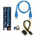 VER008S/009S Molex 4Pin SATA 6PIN PCI Express PCIE PCI-E Riser Karte 008 Adapter 1X To16X USB 3,0 riser Card Extender Bergbau Bergmann
