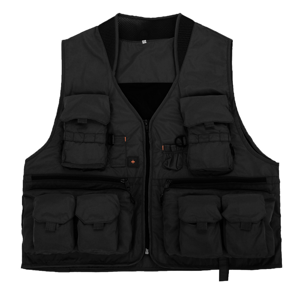 Outdoor Fly Fishing Vest Waistcoat Jackets - Quick-Dry, Multi Pockets, Memory Fabric - For Hunting Camping Travel Photography