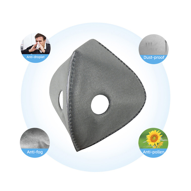 10-100 PCS 5 Layer PM2.5 Filter Disposable Paper Anti Haze Mouth Mask Anti Dust Mask Activated Carbon Filter Paper Health Care 2
