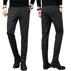 New Mens Casual Plaid Pants Bu