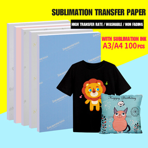 A4/a3 Sublimation Transfer Paper Washable Does Not Fade Bright Color Suitable For Various Purposes Creative Diy Paper