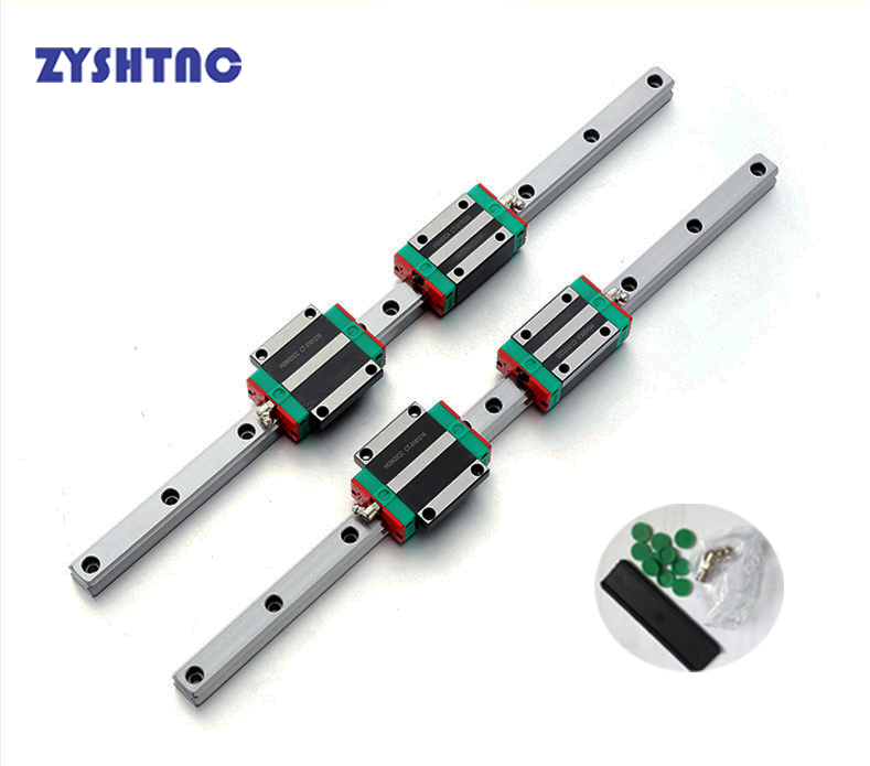 2pcs HGH20 Square Linear Guide Rail any length 4pcs Slide Block Carriages