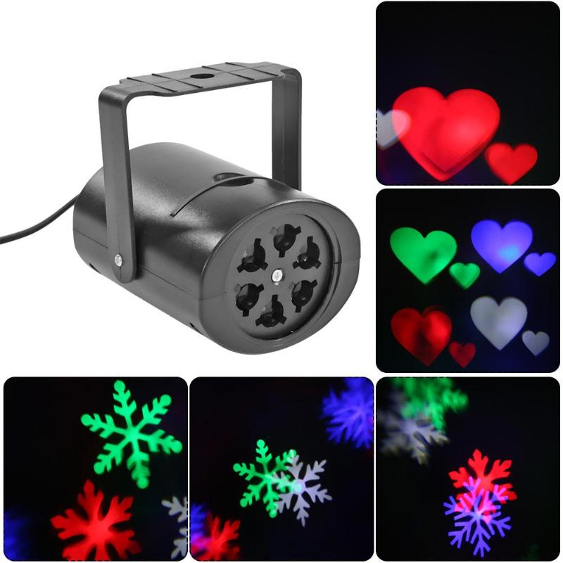 Christmas LED Laser Projector Colorful Stage Lamp Festival Party Decoration Night Lamp Projector Christmas Decoration Light