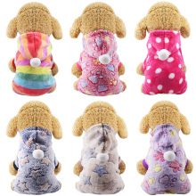 Dog Clothes Pajamas Fleece Jumpsuit Winter Dog Clothing Four Legs Warm Pet Clothing Outfit Small Dog Star Costume Apparel 30