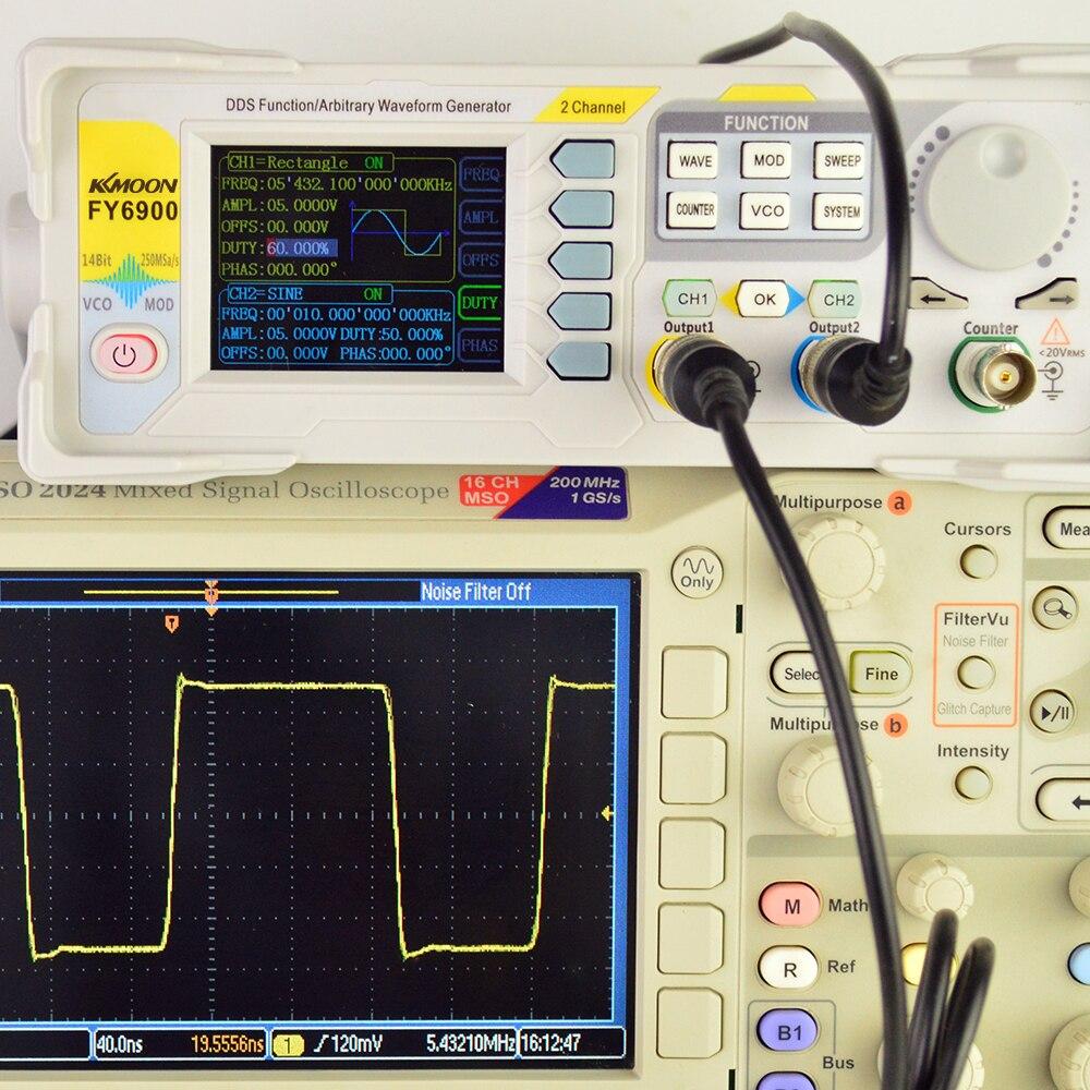 KKmoon 20MHzDDS générateur numérique DDS double canal générateur de Signal fonction Signal/générateur de forme d'onde arbitraire compteur de fréquence