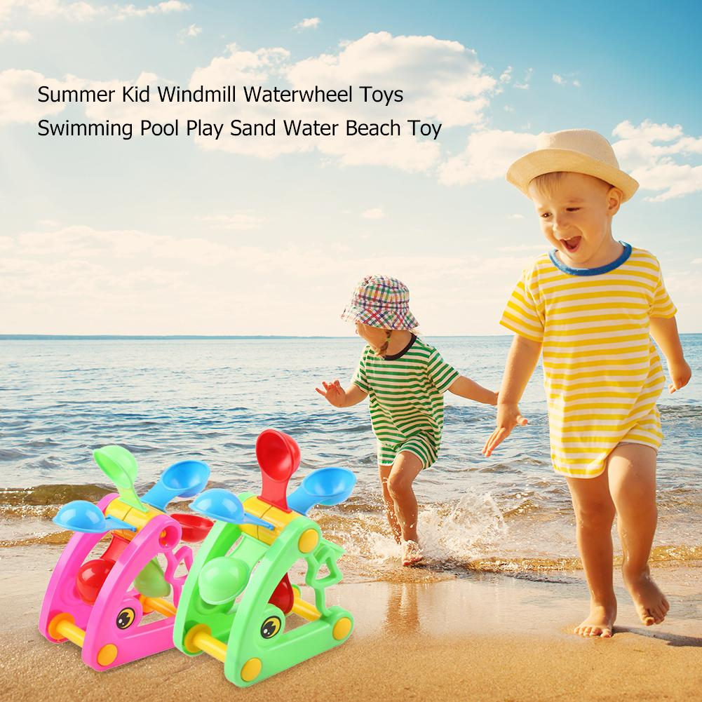 Summer Kid Windmill Waterwheel Toys Non-toxic Plastic Swimming Pool Play Sand Water Beach Toy Holiday Accessories