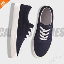 Zapatos casuales de encaje xiaomi originales Bajos para ayudar a los hombres versión coreana de la tendencia de los zapatos de los estudiantes zapatos de lona inteligentes