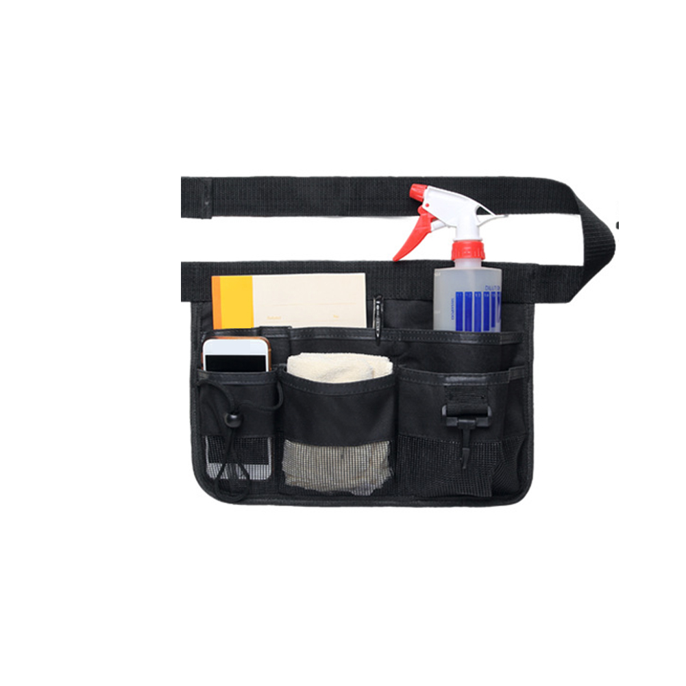 Apron Garden Multi-functional Electrician Oxford Cloth Home Cleaning Restaurant Multi-pockets Waist Tool Bag Adjustable Belt